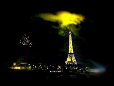 Eiffel Tower at New Year