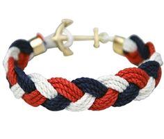 Hook Bracelet, Bracelets, Arts And Crafts, Men's Jewelry, Color, Nautical, Simple, Navy Marine, Colour