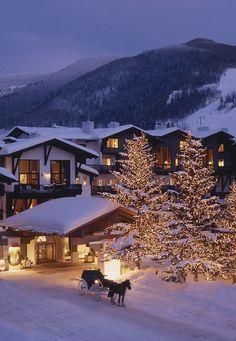 Lodge At Vail, Lake Tahoe Winter, Destinations, Winter Wonderland Christmas, Christmas Scenes, Christmas Lights, Amazing Adventures, Winter Travel, Scenery