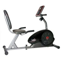 Body Champ Magnetic Recumbent Exercise Bike $200 - has the preset work-outs