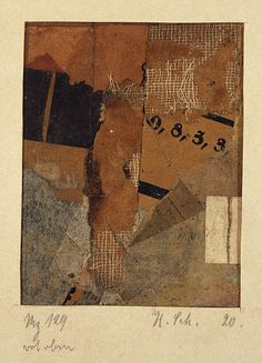 mz 129 rot oben ~ collage ~ by kurt schwitters (my hero)