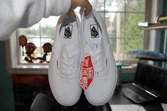 Teen Girl Fashion: Every girl at my school wears white vans. They go with so much! Will you be wearing them this year?