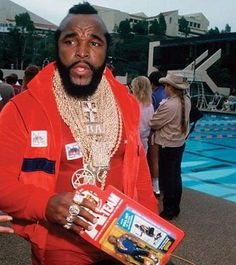 Mr T with a BA action figure from The A-Team, ahhh the good times . The A Team, Team S, Gregory Harrison, 80s Tv Series, Mr T, 80 Tv Shows, Scott Baio, George Peppard, 1980s Childhood