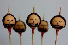 Game of Thrones-inspired Cake Pops! (though doesn't look like any GoT character in particular)