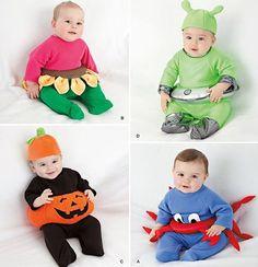 Sewing Pattern Simplicity 2323 Baby Pumpkin Alien Halloween Costumes XSM LRG | eBay