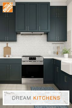Building a new kitchen, updating an existing one or buying a few kitchen decor items? Shop for kitchen cabinets, kitchen accessories & more at the Home Depot. Rustic Kitchen Design, Contemporary Kitchen Design, Interior Design Living Room, Home Depot Kitchen, New Kitchen, Kitchen Decor, Kitchen Interior, Kitchen Ideas, Home Improvement Loans
