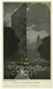 Rising far up into darkness or starlight. (1907)