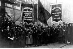 A march of workers demanding justice for the dead after the factory fire.