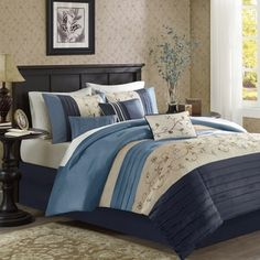 Shop for Madison Park Belle Navy Comforter Set. Get free shipping at Overstock.com - Your Online Fashion Bedding Outlet Store! Get 5% in rewards with Club O! - 19461714