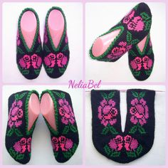 Flip Flops, Slippers, Sandals, Knitting, Shoes, Women, Fashion, Tejidos, Moda