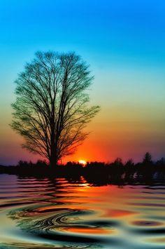 Sunset Reflection, Ontario, Canada