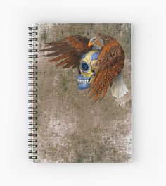 indian native eagle sugar Skul Spiral Notebooks #SpiralNotebooks #Spiral #Notebooks #skull #skeleton #dayofthedead #diasdemuertos #jack #skellingtons #halloween #scarythenight #before #christmas #animal #bone #tattoo #hippie #hipster #aztec #maya #indian #feather #bird #butterfly #mexico #mexican #hauntedmansion #ghost #monster
