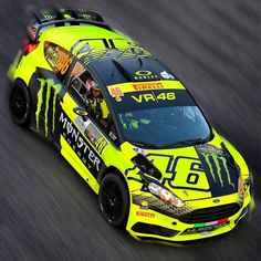 Valentino Rossi took his fourth victory at the Monza Rally Show, beating some of the world's best car racers. Nascar, Vale Rossi, Stock Car, Ford Motorsport, Valentino Rossi 46, Vr46, 1957 Chevrolet, Super Bikes, Rally Car