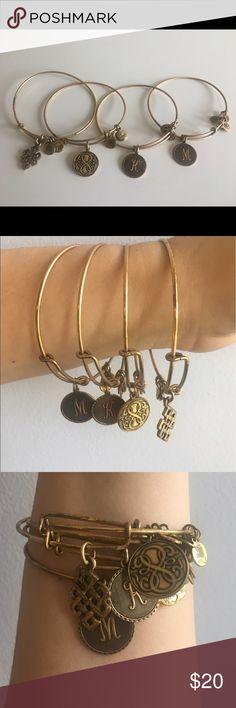 4 Alex & Ani Bracelets 4 Alex & Ani Bracelets. I originally purchased them for $28 each and always wore them together. Selling them together. Alex & Ani Jewelry Bracelets