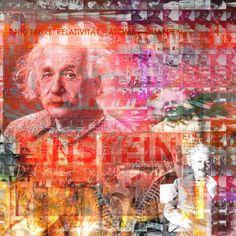 The Genius - 95 x 95 cm - Digigraphie originale sur toile