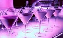 Sexy purple martinis is a good idea!