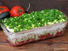 Cold Dishes, Party Food And Drinks, Polish Recipes, Chia Pudding, Coleslaw, Salad Recipes, Side Dishes, Salads, Veggies