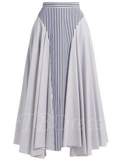 TBDress - TBDress Asymmetrical Hit Color Stripe Patchwork Womens Skirt - AdoreWe.com