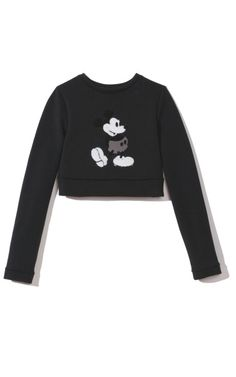 Marc Jacobs Sequin Mickey Mouse Embroidered Sweater