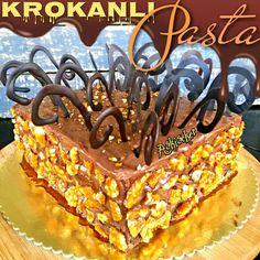 KROKANLI PASTA Krokanlı Pasta Uzun zamandır yapmadığım bir pasta nasıl da özlemişim .İşin içene görsellik ve sunumda katınca bir da...