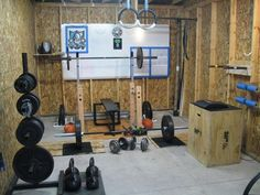 Nice garage gym photo - well utilized space, lots of DIY, gymnastic rings. This gym has it all #DIYgym