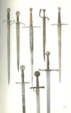 Examples of later bastard sword hilts -- myArmoury.com