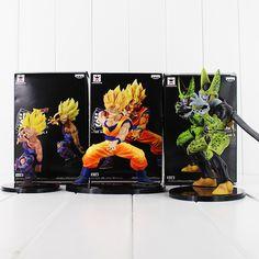 12-17cm Dragon Ball Z Dramatic Showcase Super Saiyan Son Goku Gohan Cell PVC Figures Model Toys #Affiliate