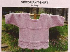 Oat Couture Knitting Pattern BB201 Victorian T-shirt for Baby 6mo-18mo