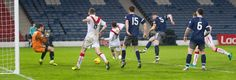 Queen's Park's Ryan McGeever scores during the Ladbrokes League One game between Queen's Park and Airdrieonians.