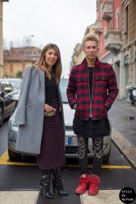 Nina Garcia & Kyle Anderson after Fendi fashion show. Follow me on Instagram @styledumonde, Pinterest, Twitter, TumblrandFacebook