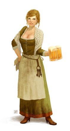 Tavern Maid female #fantasycharacter