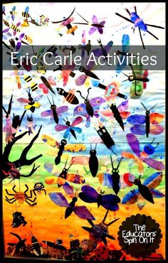 100+ Eric Carle Themed Activities featured on The Educators' Spin On It #ericcarle #bookextensions #preschool #kidsactivities #eduspin
