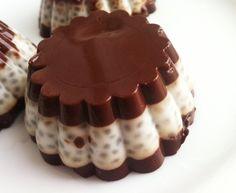 Kokosowo czekoladowy deser z chia wegański, bezglutenowy