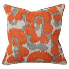 Modern orange pillow.