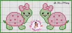 Reptile turtle cross stitch.