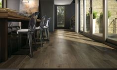 Looking for quality Red Oak hardwood flooring? See Sincero. Character look. Cost Of Wood Flooring, Oak Hardwood Flooring, Engineered Wood Floors, Dark Hardwood, Rock Floor, Natural Flooring, Moldings And Trim, 3d Studio, Red Oak