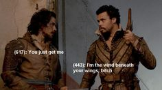 Which is why Aramis miraculously survived in Ep6