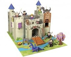 Cardboard Castles. Also see the robot, playhouses and parking garage.
