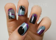 manicurator: 31DC: Day 20 - Water Marble Nail Art with China Glaze