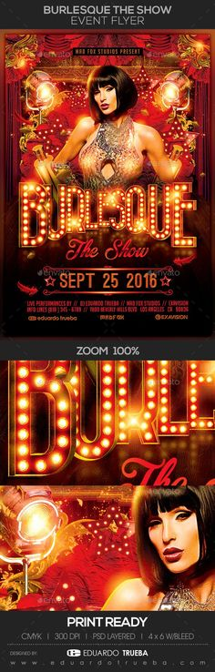 "Buy Burlesque The Show Event / Party Flyer by eduardotrueba on GraphicRiver. Burlesque The Show Event / Party Flyer "" BURLESQUE "" is a RENDER by Eduardo Trueba and is not editable."