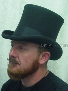 23f150f0f97 Dorfman Pacific Top Hat Black Wool Felt Bell Dickens style shape Topper S-XL