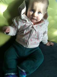 Every little girl needs a pair of knitted trousers, right?