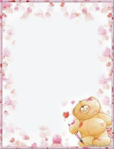 Forever Friends stationery page Printable Lined Paper, Free Printable Stationery, Fizzy Moon, Teddy Bear Pictures, Blue Nose Friends, Tatty Teddy, Stationery Paper, Writing Paper, Note Paper