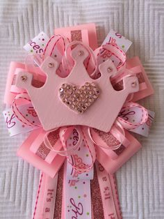 A personal favorite from my Etsy shop https://www.etsy.com/listing/472372039/princess-baby-shower-corsage-its-a-girl