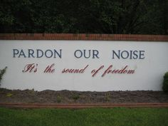 The sign at the front of the base at Cherry Point, I love it! :)