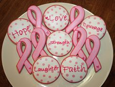 Breast Cancer cookies for the Relay for Life
