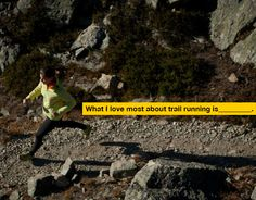 What I love most about trail running is...