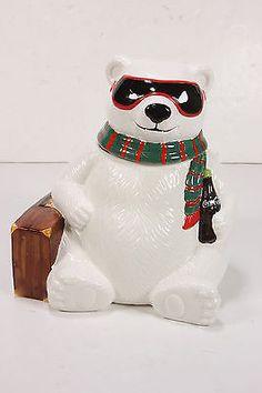 NIB 1996 Limited Edition Coca Cola Cookie Jar Hollywood Polar Bear in Box