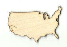 Wooden Pieces 71178: United States - Unfinished Laser Cut Out Wood Shape Craft Supply Usa22 -> BUY IT NOW ONLY: $45 on eBay!