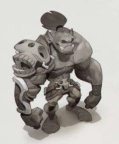 (2) Max Grecke - Quick orc concept! Been a while since I did something...